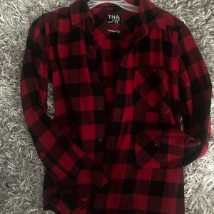 TNA red and black flannel
